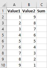 excel input data