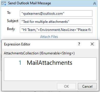 send multiple attachments in a mail