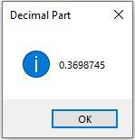 decimal output